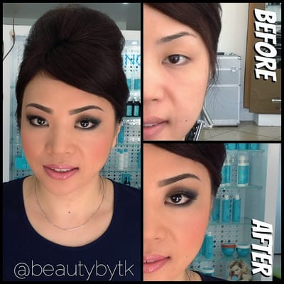 Airbrush Bridal Makeup Before And After : Before and After - Bridal Preview smokey eyes and airbrush ...