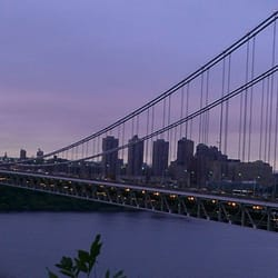 View of gwb from trail for 2400 hudson terrace fort lee nj 07024