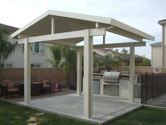 Metal Free Standing Patio Roof Cover Pictures To Pin On