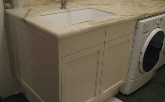 Hawthorne basement remodel. A fine looking laundry room sink. | Yelp