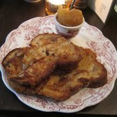 French toast with applesauce