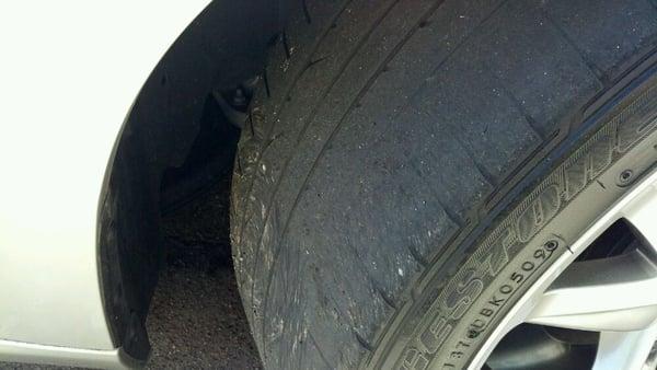 "Merchants Tire Near Me >> Before - Bridgestone Potenza RE050A 245 40 19 w/ 0/32"" at the edges. | Yelp"