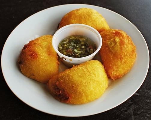 Colombian Fried Corn Empanadas filled w/ Beef | Yelp