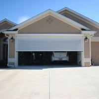 Garage door electric roll up screen yelp for Roll down garage door screen
