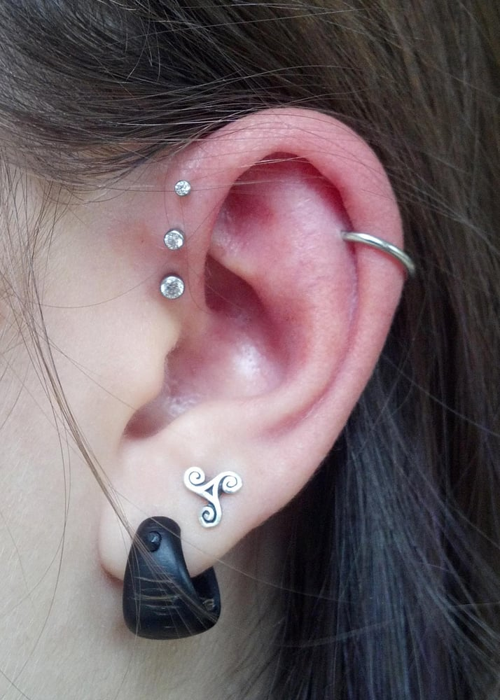 Triple forward helix yelp for Helix piercing jewelry canada