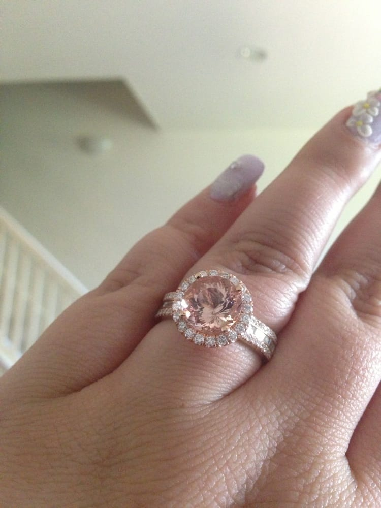 My Rose Gold Morganite And Diamond Engagement Ring Yelp