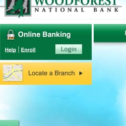 Woodforest bank login page