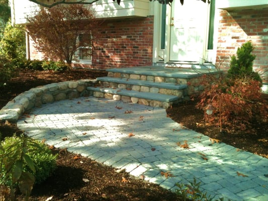 how to build a fieldstone walkway