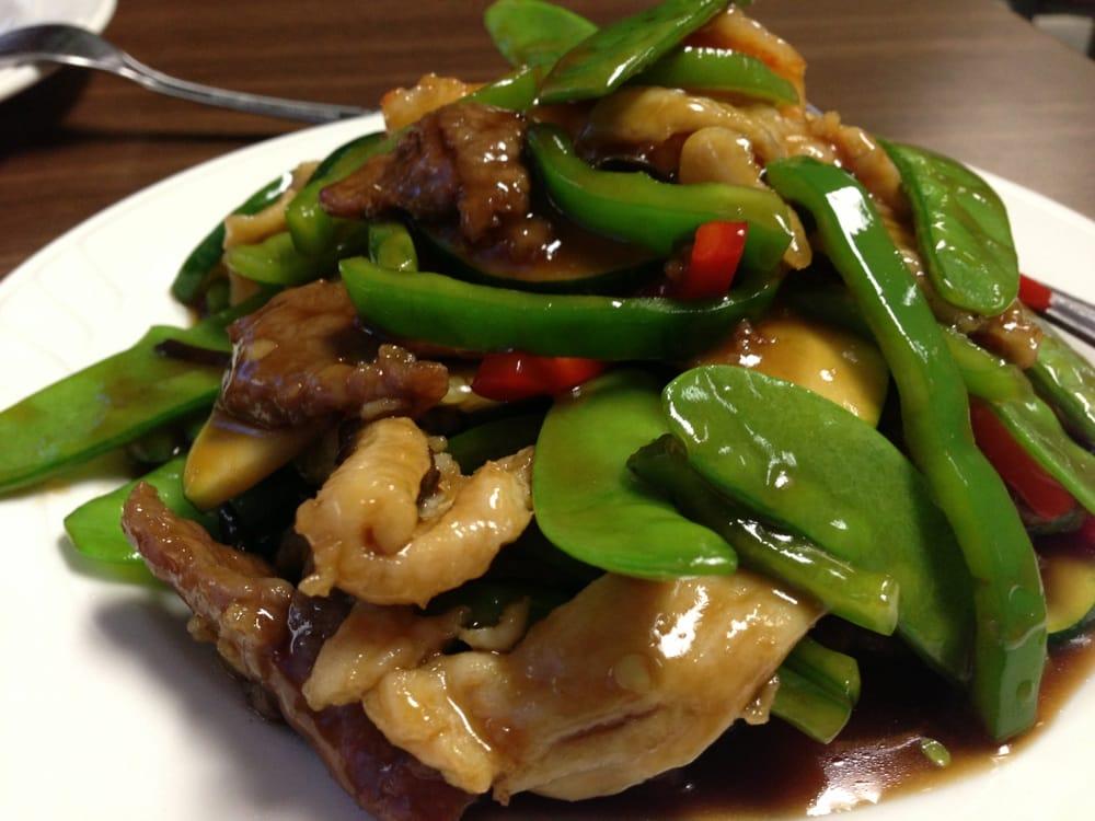 triple delight with garlic sauce shrimp chicken beef  yelp