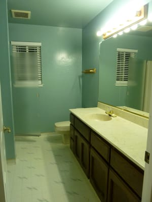 Bathroom Vanities  Jose on Bath Before Xteria  A Tiny Slit With A Single Shower Stall And Vanity