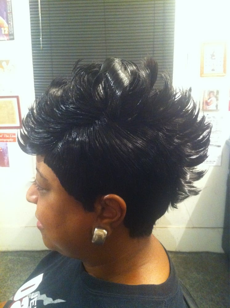 which hairstyle suits me : quick weave mohawk short curly quick weave quick weave mohawk 27 piece ...