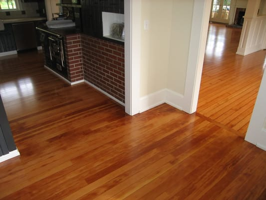 Antique Fir Floor Installed In Kitchen Original Floor Is