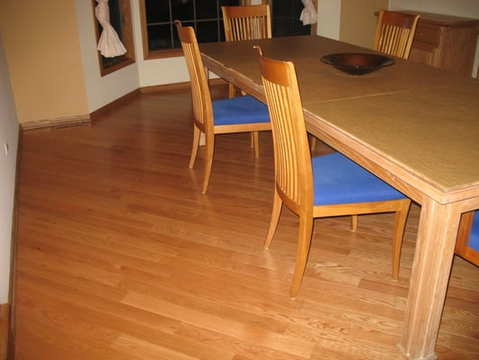 Solid canadian oak flooring installed on a 45 degree angle for Hardwood floors 45 degree angle
