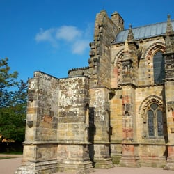 Rosslyn Chapel, Edinburgh, Midlothian, UK