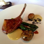New Season Lamb, BBQ Asparagus, Jersey Royals and Bagna Cauda