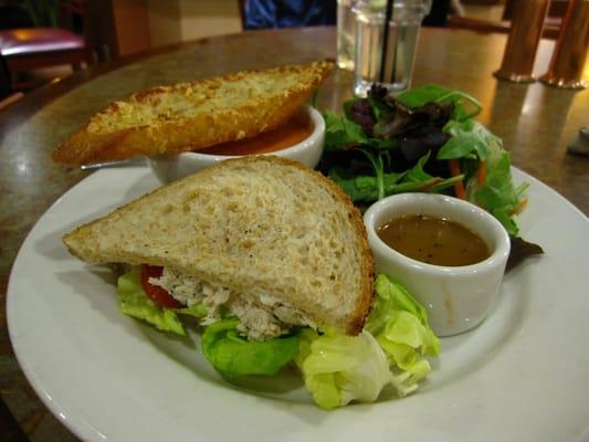 Half Sandwich, Salad & Soup - Half Tuna Salad Sandwich, Organic Baby ...