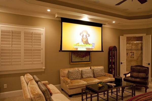 Master Bedroom 92 Draper Projector Screen Yelp