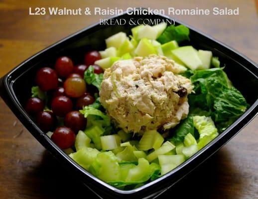 L23 Walnut & Raisin Chicken Salad, Apple, Grape, Celery on Romaine ...