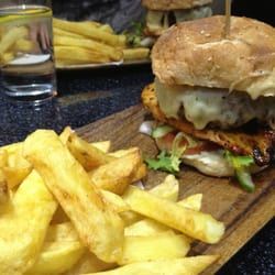 Incredible burger and chips