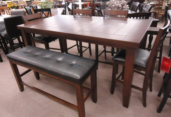pub dining table with bench images
