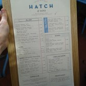 Each menu is mounted on a board -nice touch!