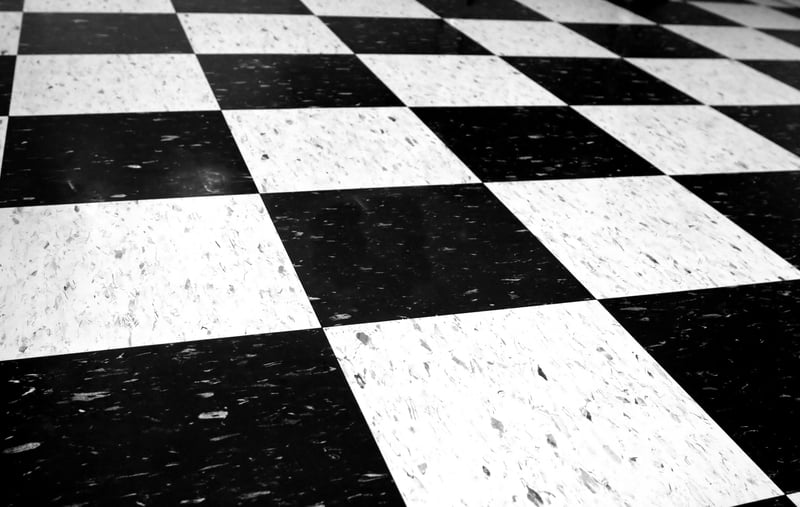 Black And White VCT Commercial Vinyl Composition Tile Yelp
