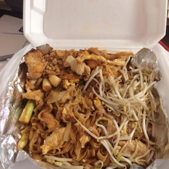 Chicken pad Thai! Medium! Perfect spicy ness