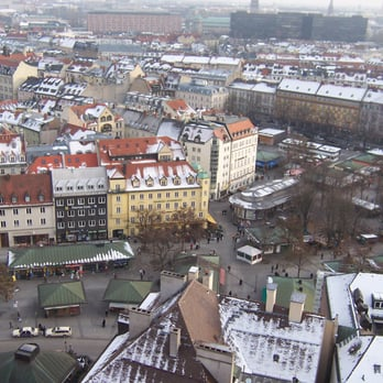 View of the market from the tower of Peterskirche