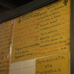 The handwritten menu which changes daily