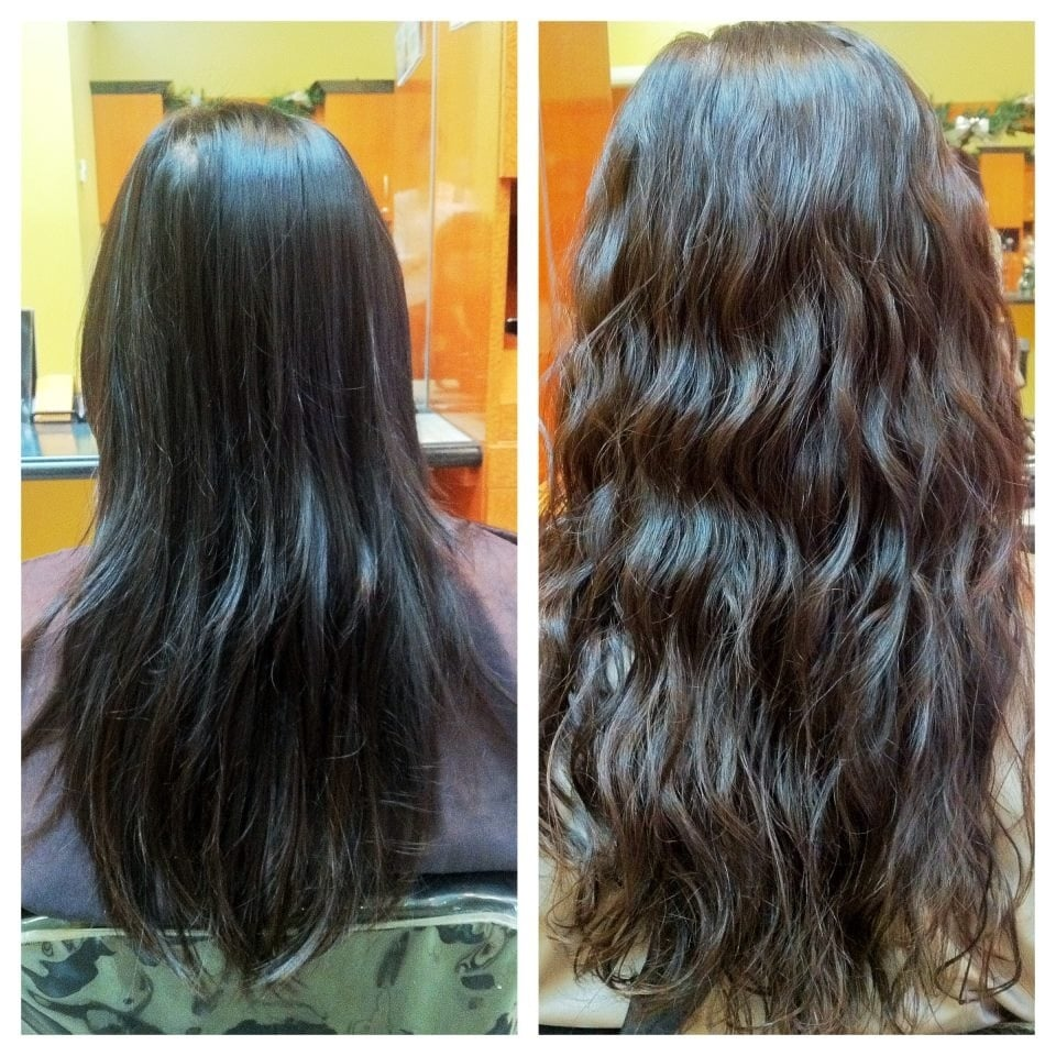 Before And After Beach Wave Perm Done By Taylor Yelp