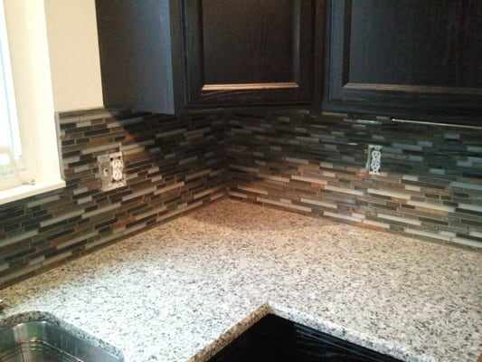 Mosaic tile backsplash installed in Novi | Yelp