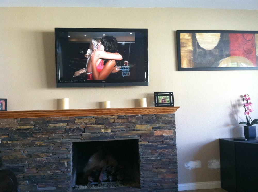 Over Fireplace Tv Mount Yelp