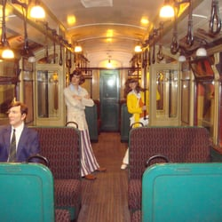 Interior of an old Tube train