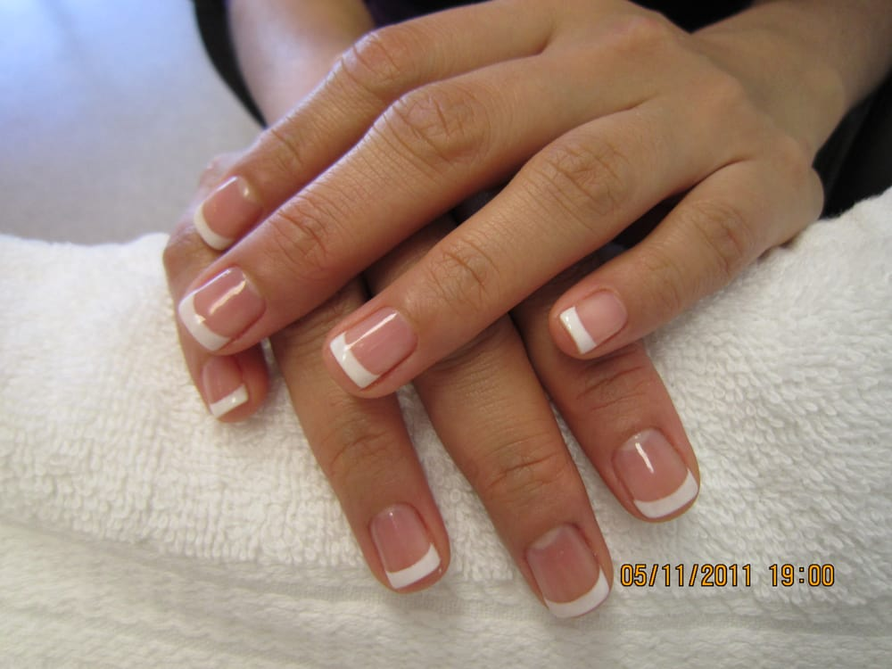 gel manicure w/ french | Yelp
