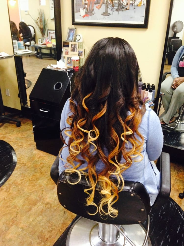 Ombre Full Head Sew In Weave 28 26 24 Inch Hair