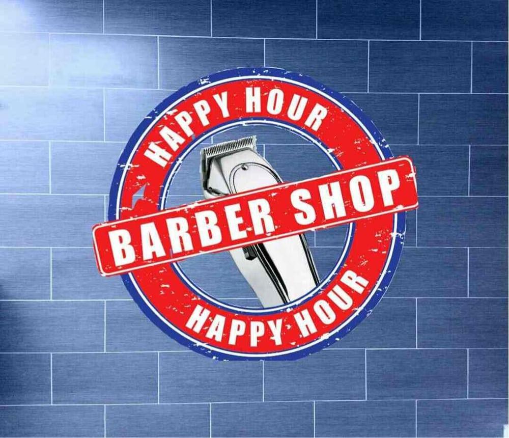 Happy Hour Barber Shop Logo Yelp
