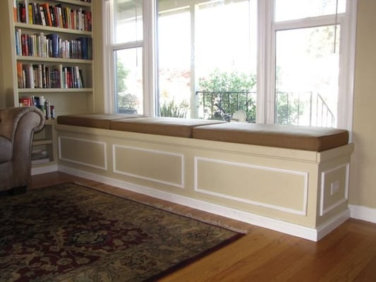 Bookshelf & Bench Seat with Storage | Yelp