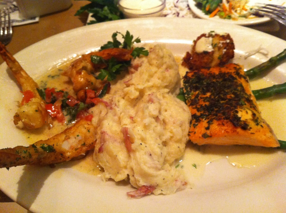 Herb Crusted Salmon and Shrimp Scampi | Yelp