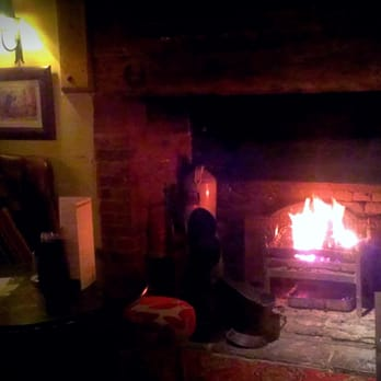 Roaring fire on a frosty night!