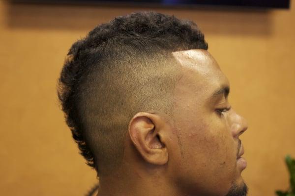 Black Men Taper Fade Mohawk for Pinterest