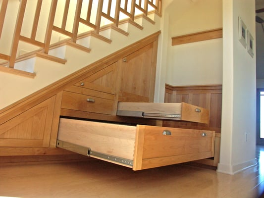 Custom Maple Under Stair Storage Yelp