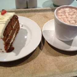 Free carrot cake and hot choc yum