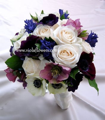 Sonoma Wedding Flowers Purple Bouquet