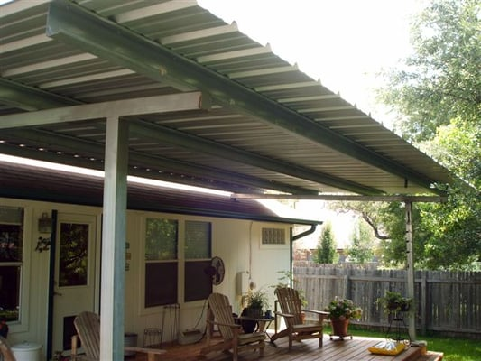 Patio Cover Free Standing Over Deck All Galvanized
