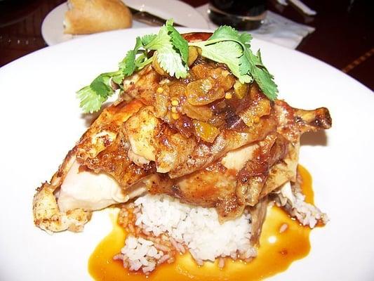 Herb-Marinated Spit-Roasted Half Chicken - with saffron jasmine rice ...