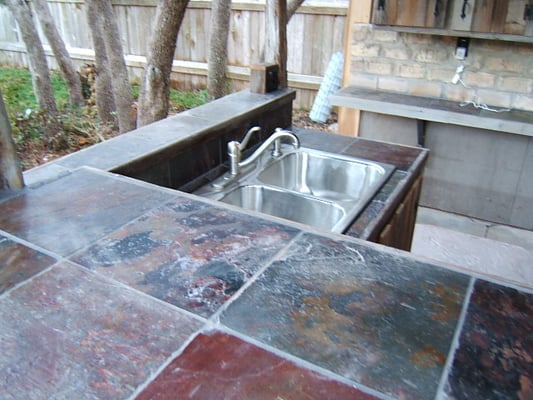 Outdoor kitchens, entertainment areas and patios. Tile work | Yelp
