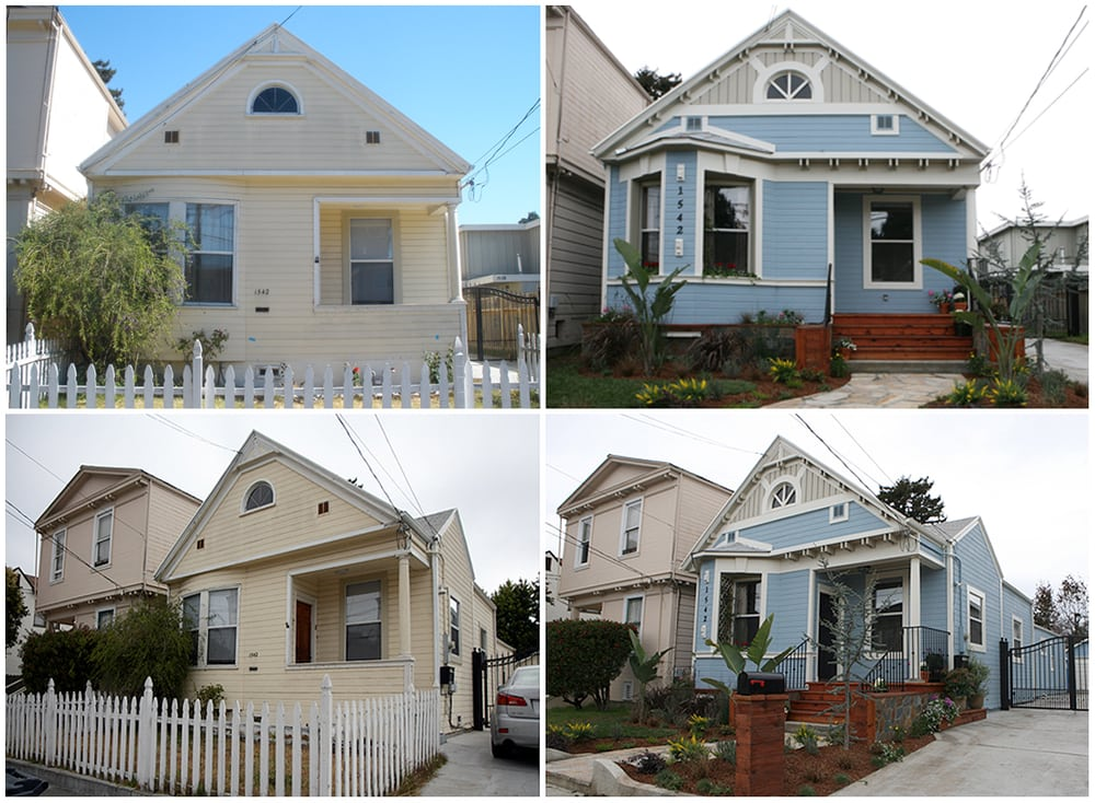 pin exterior before and after photos professional remodeling