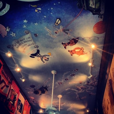 Awesome ceiling mural yelp for Ceiling mural in a smoker s lounge