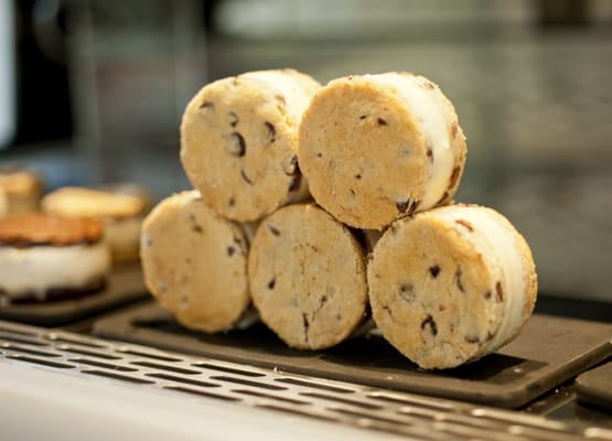 Mini Chocolate Chip Ice Cream Sandwiches Recipe — Dishmaps