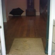 oak floor through 4 rooms inc floor level coconut mat